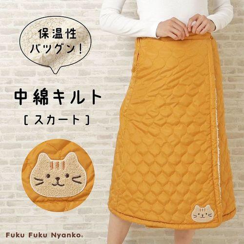 FukuFukuNyankoキルトスカート